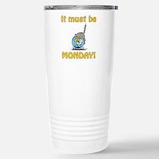 Funny Monday Cat Stainless Steel Travel Mug