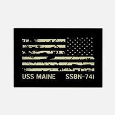 USS Maine Rectangle Magnet