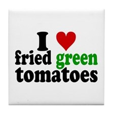 I Heart Fried Green Tomatoes Tile Coaster