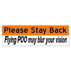 Flying poo (horse trailer sticker- orange/white)