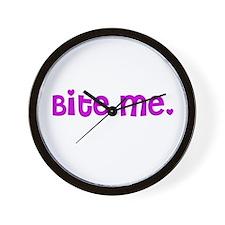 Bite me design Wall Clock