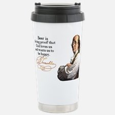 Franklin on Beer Travel Mug