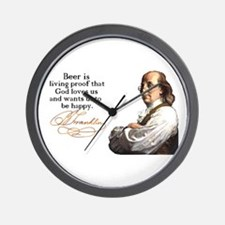 Franklin on Beer Wall Clock