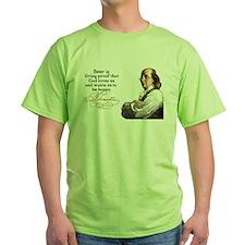 Franklin on Beer T-Shirt