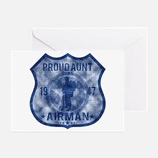 Proud Aunt - Airman Badge Greeting Cards (Pk of 10