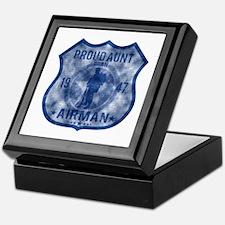 Proud Aunt - Airman Badge Keepsake Box