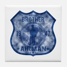 Proud Brother - Airman Badge Tile Coaster