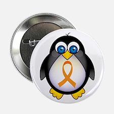 "Penguin Orange Ribbon Awareness 2.25"" Button (10 p"