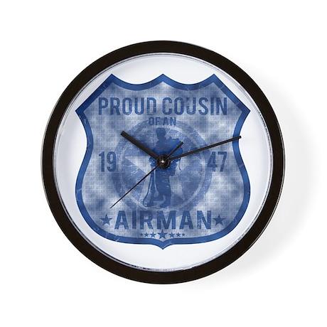 Proud Cousin - Airman Badge Wall Clock