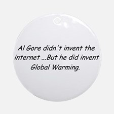 Al Gore Global Warming Ornament (Round)