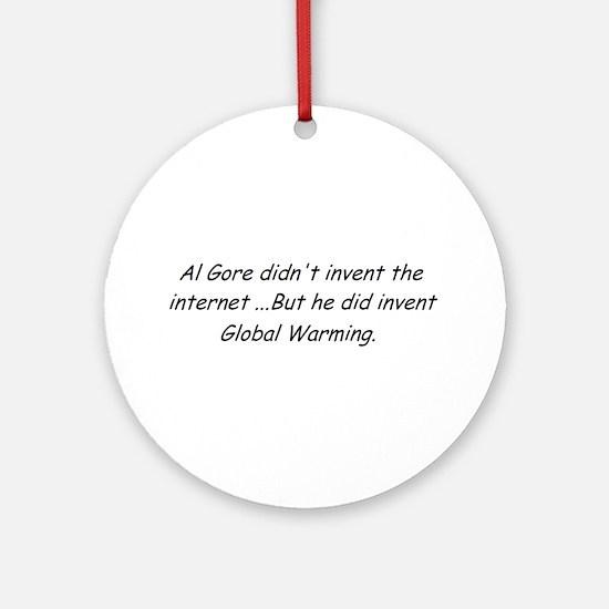 Al Gore Global Warming Ornament (Round)