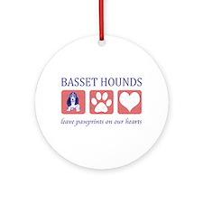 Basset Hound Lover Gifts Ornament (Round)