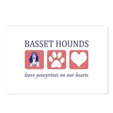 Basset Hound Lover Gifts Postcards (Package of 8)