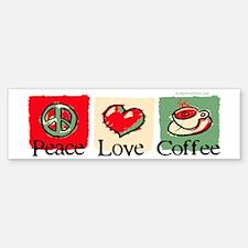 Peace. Love. Coffee Sticker (Bumper)