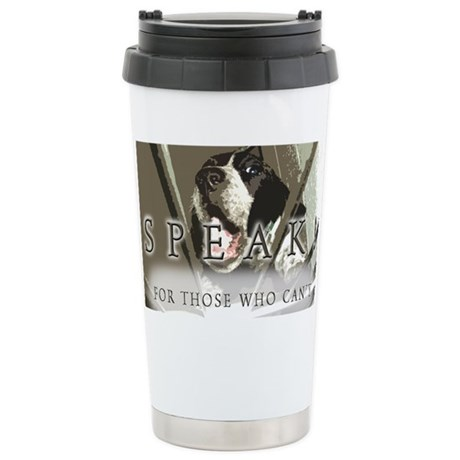SPEAK! Stainless Steel Travel Mug