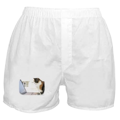 """""""Cat and Computer"""" Boxer Shorts"""