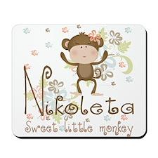 Adorable Nikoleta Sweet little Monkey Mousepad