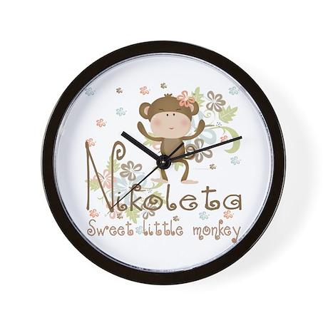 Adorable Nikoleta Sweet little Monkey Wall Clock