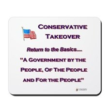 Conservative Takeover Basics Mousepad