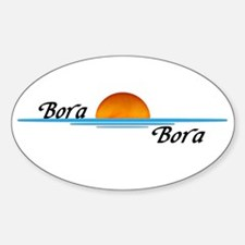 Bora Bora Sunset Sticker (Oval)