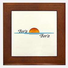 Bora Bora Sunset Framed Tile