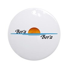 Bora Bora Sunset Ornament (Round)