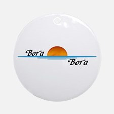 Bora Bora Sunset Ornament (Round)
