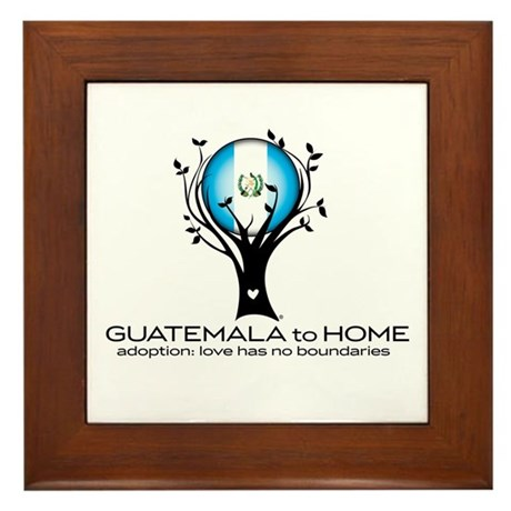 Guatemala to Home Framed Tile