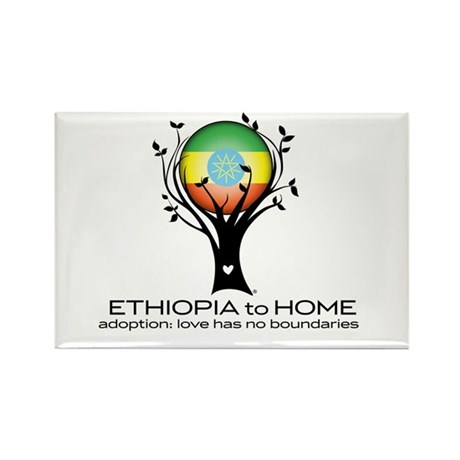 Ethiopia to Home Rectangle Magnet