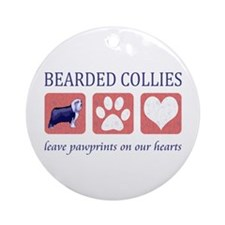 Bearded Collie Lover Gifts Ornament (Round)