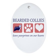 Bearded Collie Lover Gifts Ornament (Oval)