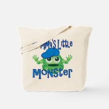 Boy Mommy's Little Monster Tote Bag