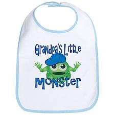 Boy Grandpa's Little Monster Bib