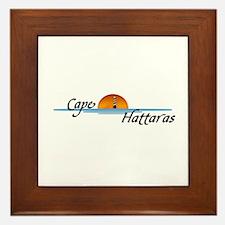 Cape Hattaras Sunset Framed Tile