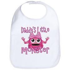 Girl Daddy's Little Monster Bib
