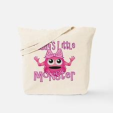 Girl Daddy's Little Monster Tote Bag