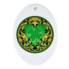 Lucky Charm Cameo Ornament (Oval)