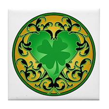 Lucky Charm Cameo Tile Coaster