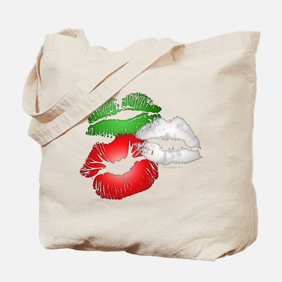 Italian Kissing Lips Tote Bag