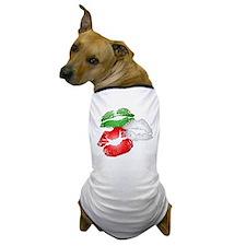Italian Kissing Lips Dog T-Shirt