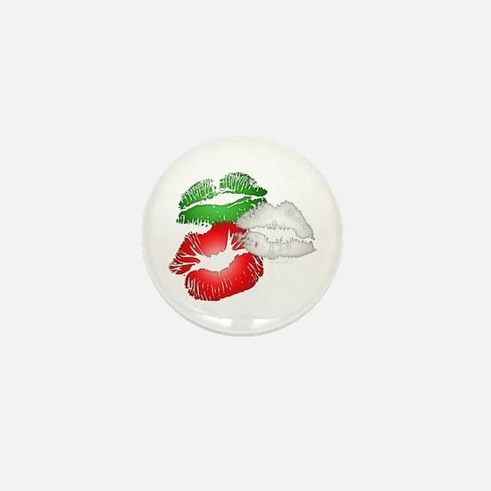 Italian Kissing Lips Mini Button