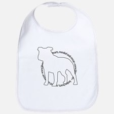 Staffy Outline (BK) - Bib