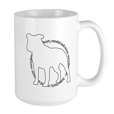 Staffy Outline (BK) - Large Mug