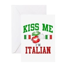 Kiss Me I'm Italian Greeting Card