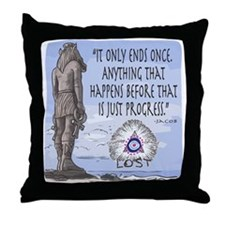 Lost Statue Progress Throw Pillow