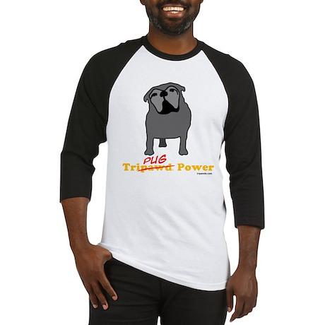 Tri-Pug Power Baseball Jersey