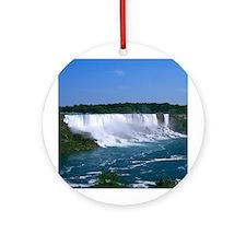 American Niagara Falls Ornament (Round)