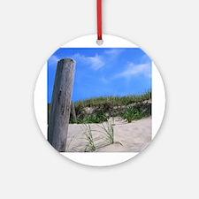 Cape Cod Beach Ornament (Round)