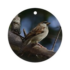 Sparrow Ornament (Round)