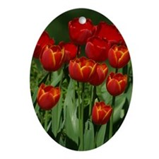 Spring Tulips Ornament (Oval)